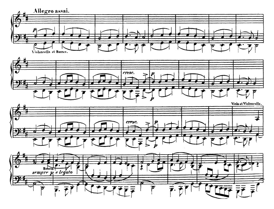Beethoven theme transcribed by Liszt