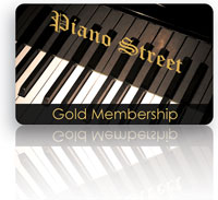Gold membership - Piano gift card