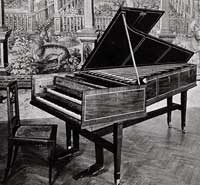 Joseph Haydns two-manual harpsichord, made by Burkat Shudi and John Broadwood, London 1775.