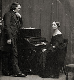 Robert and Clara Schumann, 1850