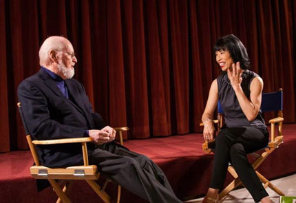 From the film. Gloria Cheng interviewing John Williams