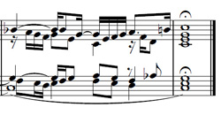 Prelude no 1 in C major from WTC II - final bars