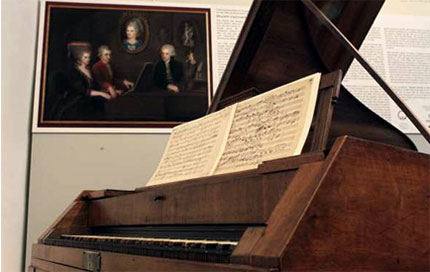 The fortepiano that Mozart played almost daily during his last nine years.