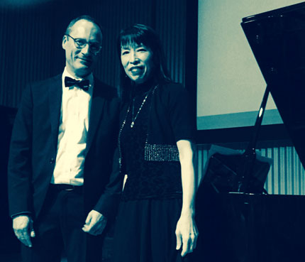Gloria Cheng with Piano Street's Patrick Jovell