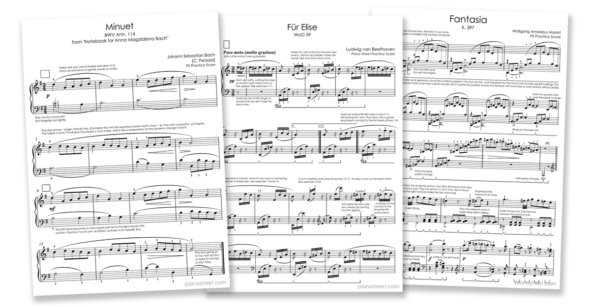 Piano free piano sheet music clair de lune : Piano Street: Instructive Editions