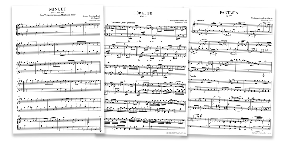 Piano Street: Editions and Urtext scores