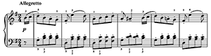 Ecossaise  WoO 23  in G Major by Beethoven piano sheet music