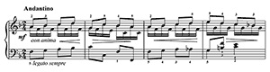Rose Rock Op. 205 No. 8  in F Major by Gurlitt piano sheet music