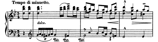 Minuetto  No. 1  in G Minor by Albéniz piano sheet music