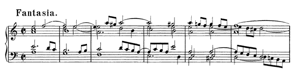 Fantasia & Fugue BWV 904  in A Minor by Bach piano sheet music