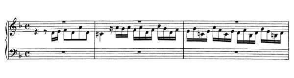Fugue in D minor BWV 948  in D Minor by Bach piano sheet music