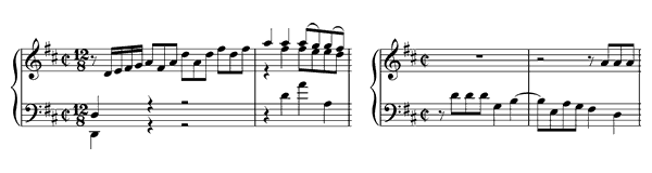 piano sheet music of Prelude & Fugue