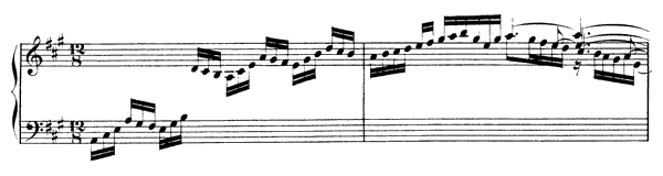 English Suite  No. 1  in A Major by Bach piano sheet music