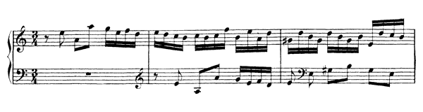 English Suite  No. 2  in A Minor by Bach piano sheet music