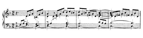 English Suite  No. 6  in D Minor by Bach piano sheet music