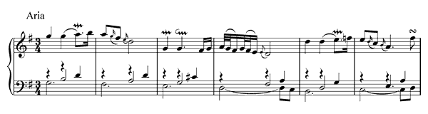 piano sheet music of Goldberg Variations