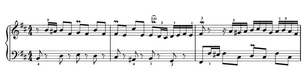 Invention  No. 15  in B Minor by Bach piano sheet music