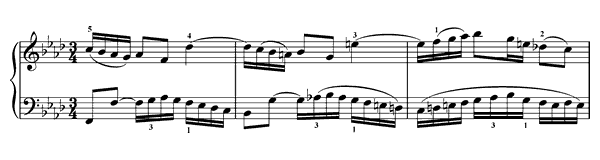 Invention  No. 9  in F Minor by Bach piano sheet music