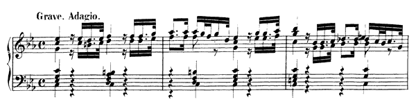 piano sheet music of Partita