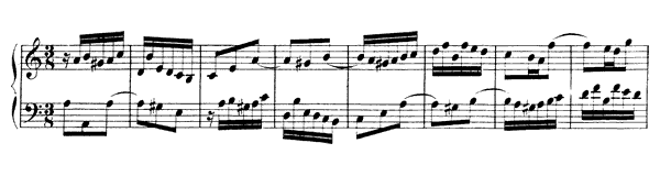 Partita  No. 3  in A Minor by Bach piano sheet music