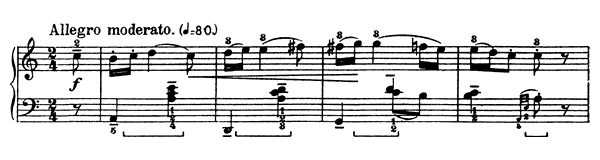 Stick Game  No. 1  in A Minor by Bartók piano sheet music