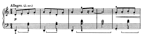 Peasant Costume  No. 2  in D Minor by Bartók piano sheet music