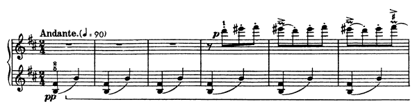 Standing Still  No. 3  in B Minor by Bartók piano sheet music