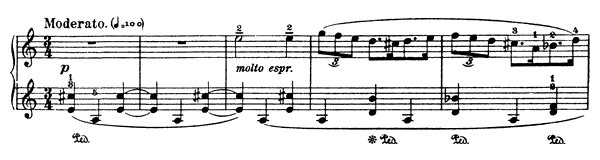 Song of the Mountain Horn  No. 4  in A Minor by Bartók piano sheet music