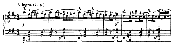 Little One  No. 6  in D Major by Bartók piano sheet music