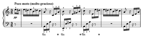 piano sheet music of Für Elise