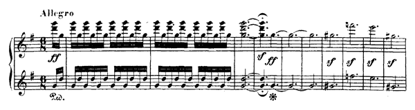 Grosse Fuge - for Four Hands Op. 133  in B-flat Major by Beethoven piano sheet music
