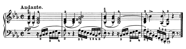 piano sheet music of Sonata 13