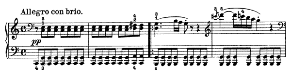 piano sheet music of Sonata 21 (Waldstein)