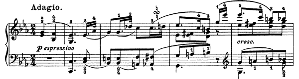 piano sheet music of Sonata 26 (Les Adieux)