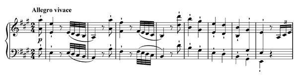 Sonata 2 Op. 2 No. 2  in A Major by Beethoven piano sheet music