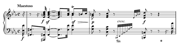 piano sheet music of Sonata 32