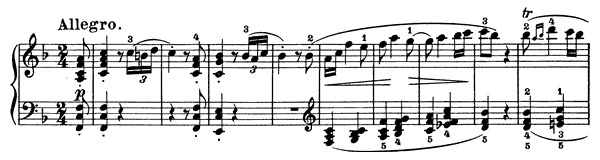 Sonata 6 Op. 10 No. 2  in F Major by Beethoven piano sheet music