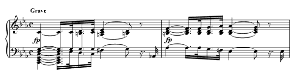piano sheet music of Sonata 8 (Pathétique)