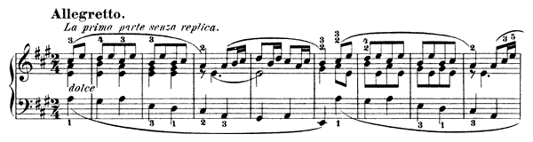 Twelve Variations  on: Das Waldmädchen (a Russian Dance), WoO 71   in A Major by Beethoven piano sheet music