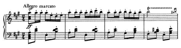 Soldiers Changing the Guard from Carmen   in A Major by Bizet piano sheet music