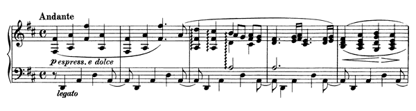 Ballade Op. 10 No. 2  in D Major by Brahms piano sheet music