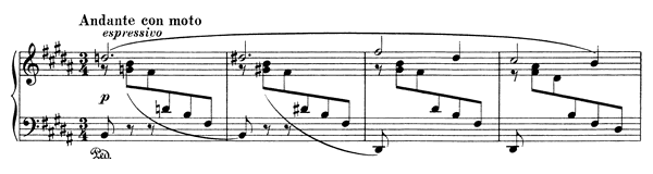Ballade Op. 10 No. 4  in B Major by Brahms piano sheet music