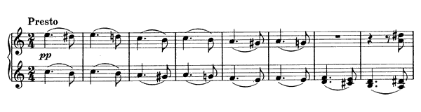 Hungarian Dance  No. 8  in A Minor by Brahms piano sheet music