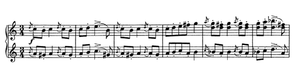 Waltz Op. 39 No. 14  in C Major by Brahms piano sheet music