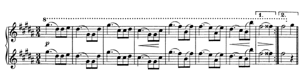 Waltz Op. 39 No. 3  in G-sharp Minor by Brahms piano sheet music