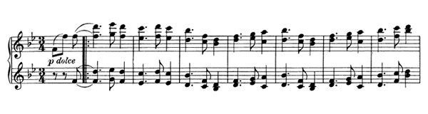 Waltz Op. 39 No. 8  in B-flat Major by Brahms piano sheet music