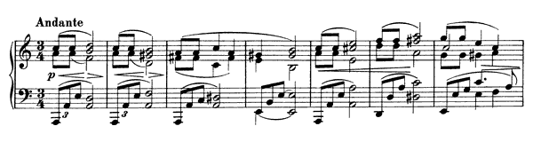 Intermezzo Op. 116 No. 2  in A Minor by Brahms piano sheet music