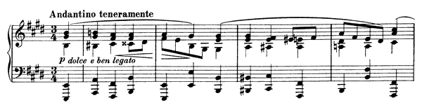 Intermezzo Op. 116 No. 6  in E Major by Brahms piano sheet music