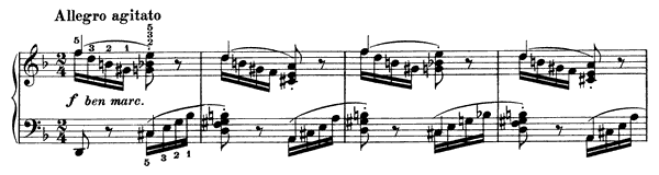 Capriccio Op. 116 No. 7  in D Minor by Brahms piano sheet music