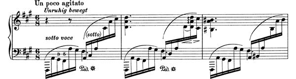 Capriccio Op. 76 No. 1  in F-sharp Minor by Brahms piano sheet music